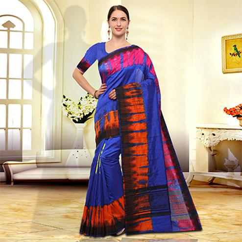 Pretty Purple Colored Festive Wear Art Silk Saree