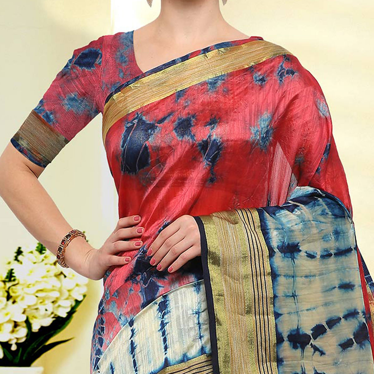 Dazzling Multicolored Festive Wear Art Silk Saree