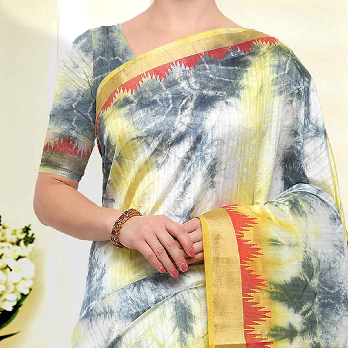 Flaunt Multicolored Festive Wear Art Silk Saree