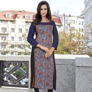 Appealing Multi Colored Casual Printed Cotton Kurti