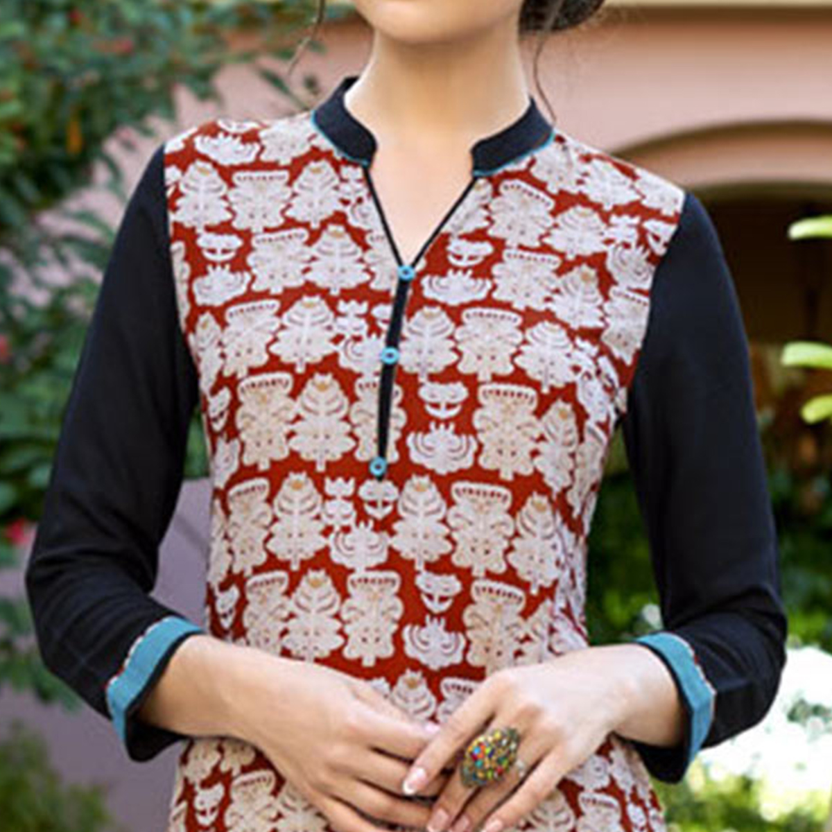 Elegant Maroon Colored Casual Printed Cotton Kurti
