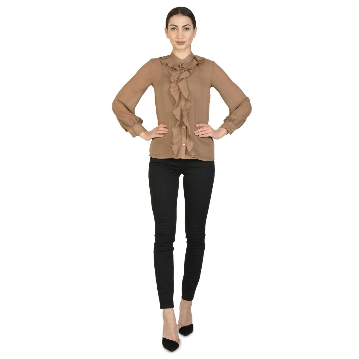 Henry And Zoe - Brown Colored Regular Polyester Top