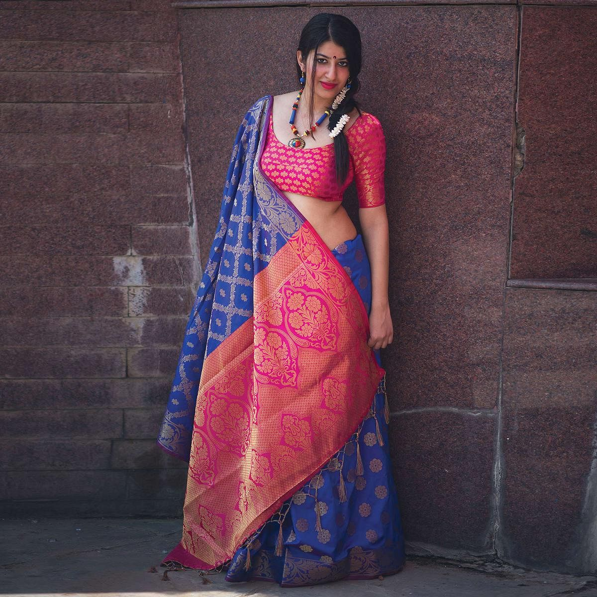 Regal Blue Colored Festive Wear Designer Woven Patola Silk Saree