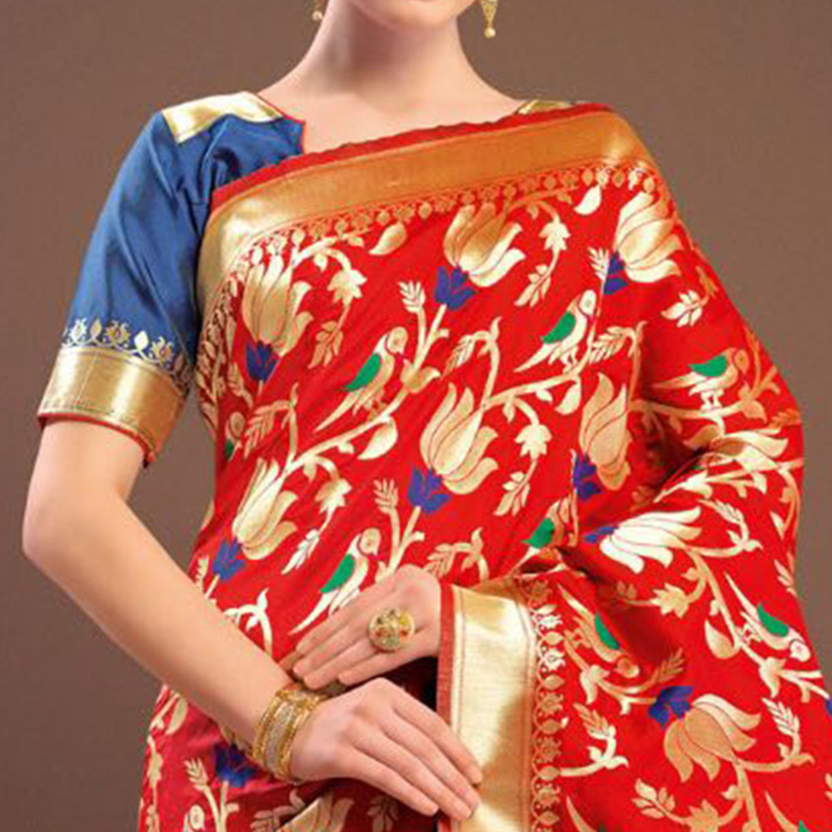 Exceptional Red Colored Designer Festive Wear Woven Banarasi Silk Saree