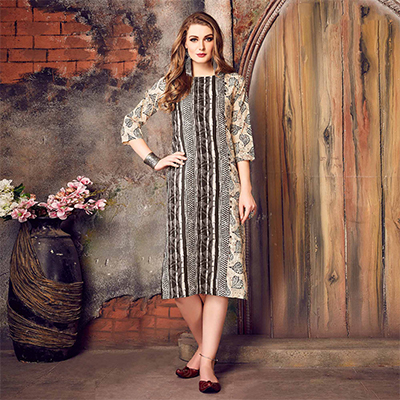 Energetic Multicolored Printed Cotton Kurti
