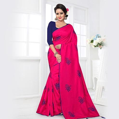 Pretty Pink Colored Partywear Zoya Silk Saree