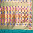 Pleasing Rama Colored Festive Wear Woven Banarasi Art Silk Saree