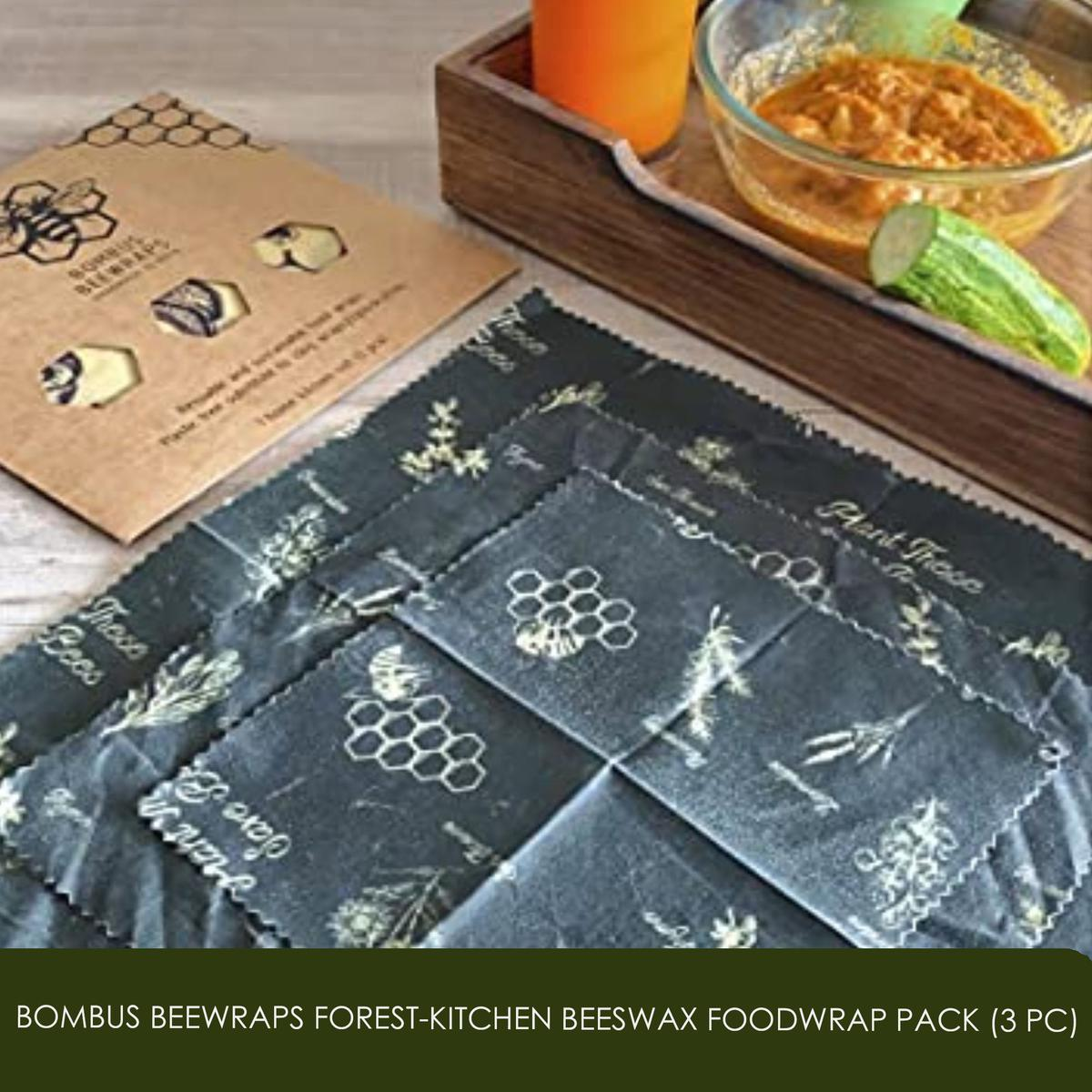 GOLI SODA - Bombus Beewraps Forest-Kitchen Beeswax Foodwrap Pack (3 pc)