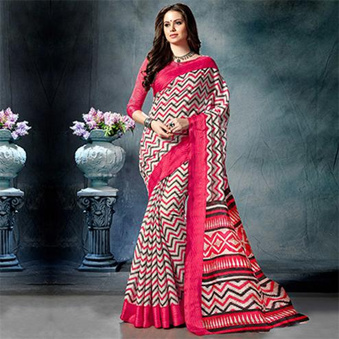Graceful MultiColored Casual Printed Pure Cotton Saree