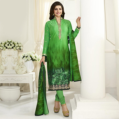 Shaded Green Digital Printed Suit