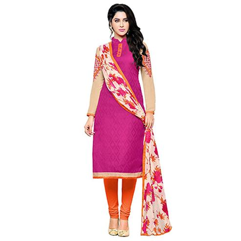 Hot Pink Straight Cut Salwar Suit