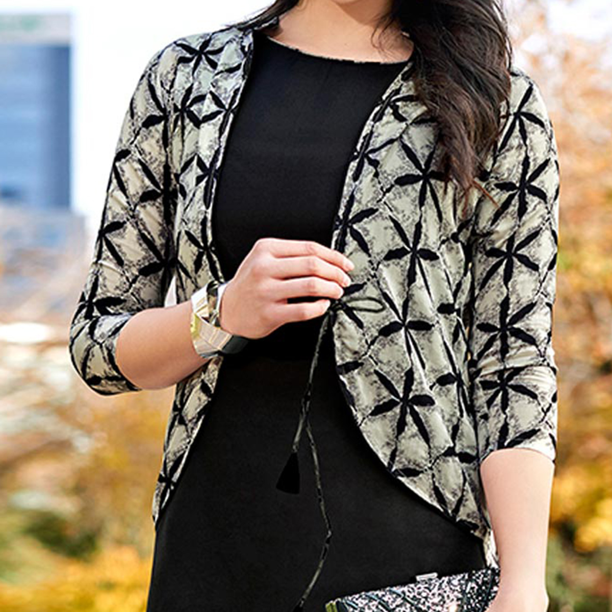 Awesome Black-Grey Colored Casual Wear Printed Cotton Kurti