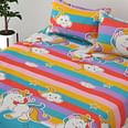 Adirav - Attractive Multi Printed Glace Cotton Printed Double Bedsheet With Two Pillow Cover