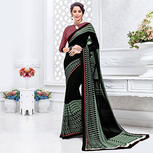 Black Casual Wear Printed saree