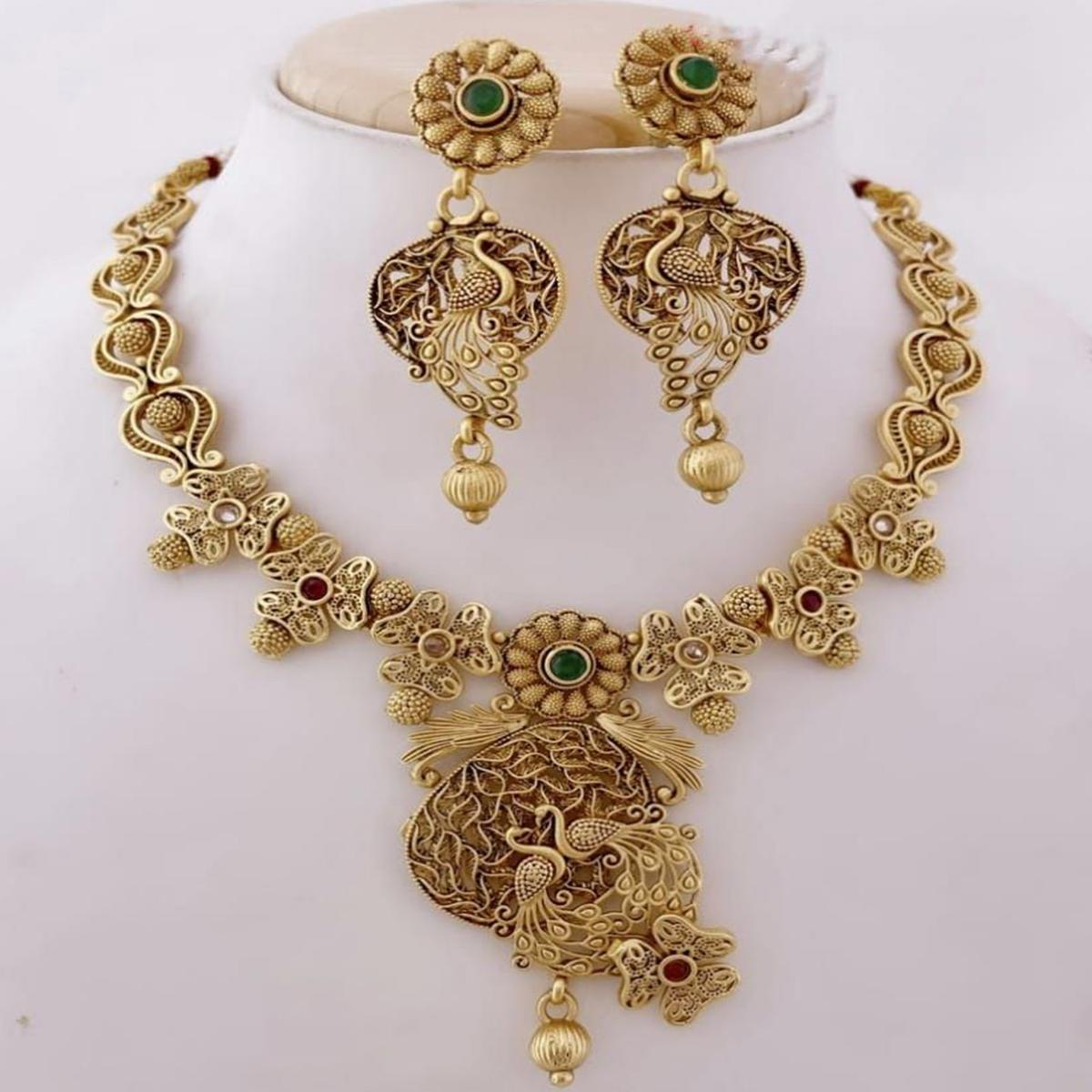 VIHA - Copper High Gold Plated Necklace Set For Women And Girl