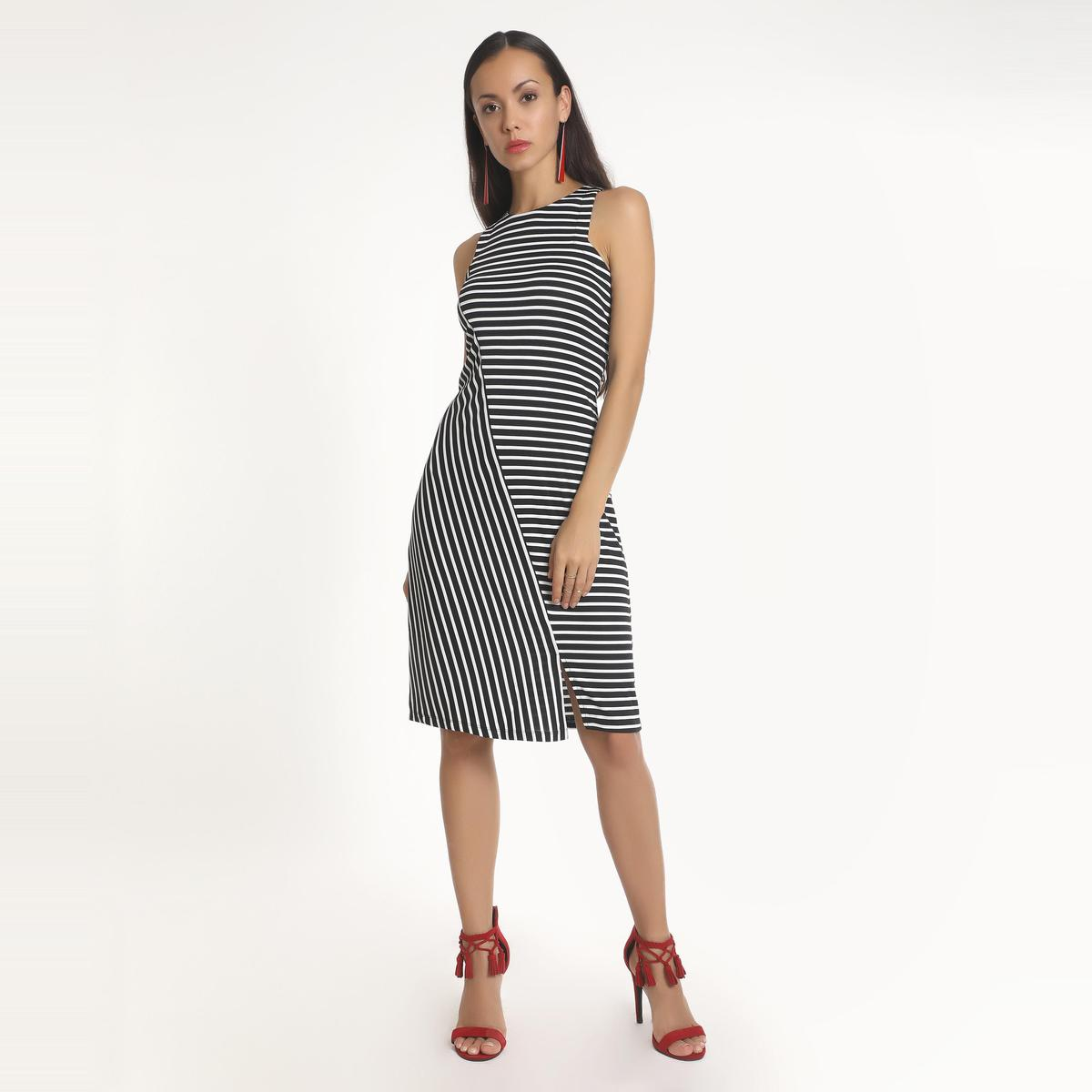 Multi Casual Wear A-line   Polyester Dress