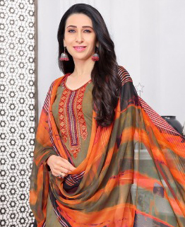 Elegant Brown Colored Casual Printed Pure Cotton Dress Material