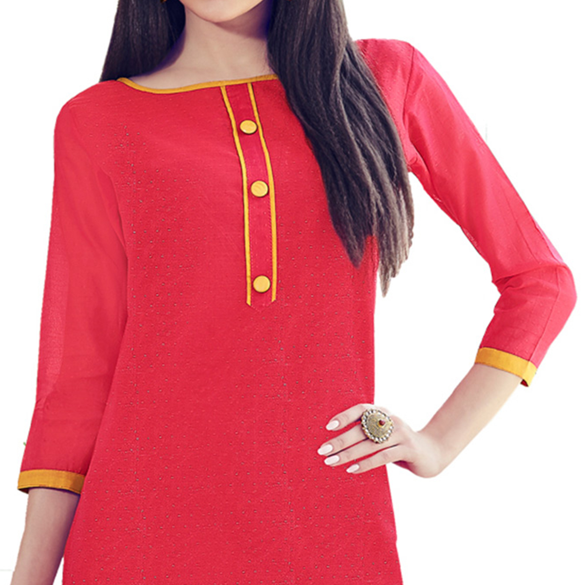Pink Colored Embroidered Work Casual Wear Chanderi Suit