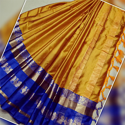 Delightful Mustard Yellow Feative Wear Traditional Art Silk Saree