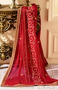 Mesmerising Red Colored Designer Heavy Embroidered Georgette Suit
