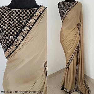 Classy Beige Colored Designer Party Wear Rangoli Silk Saree