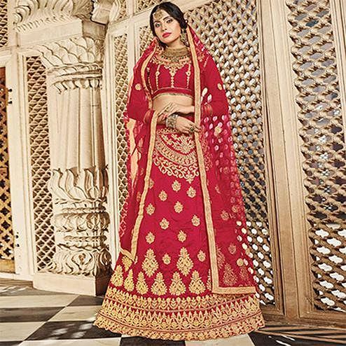 Preferable Maroon Colored Designer Traditional Wear Art Silk Lehenga Choli