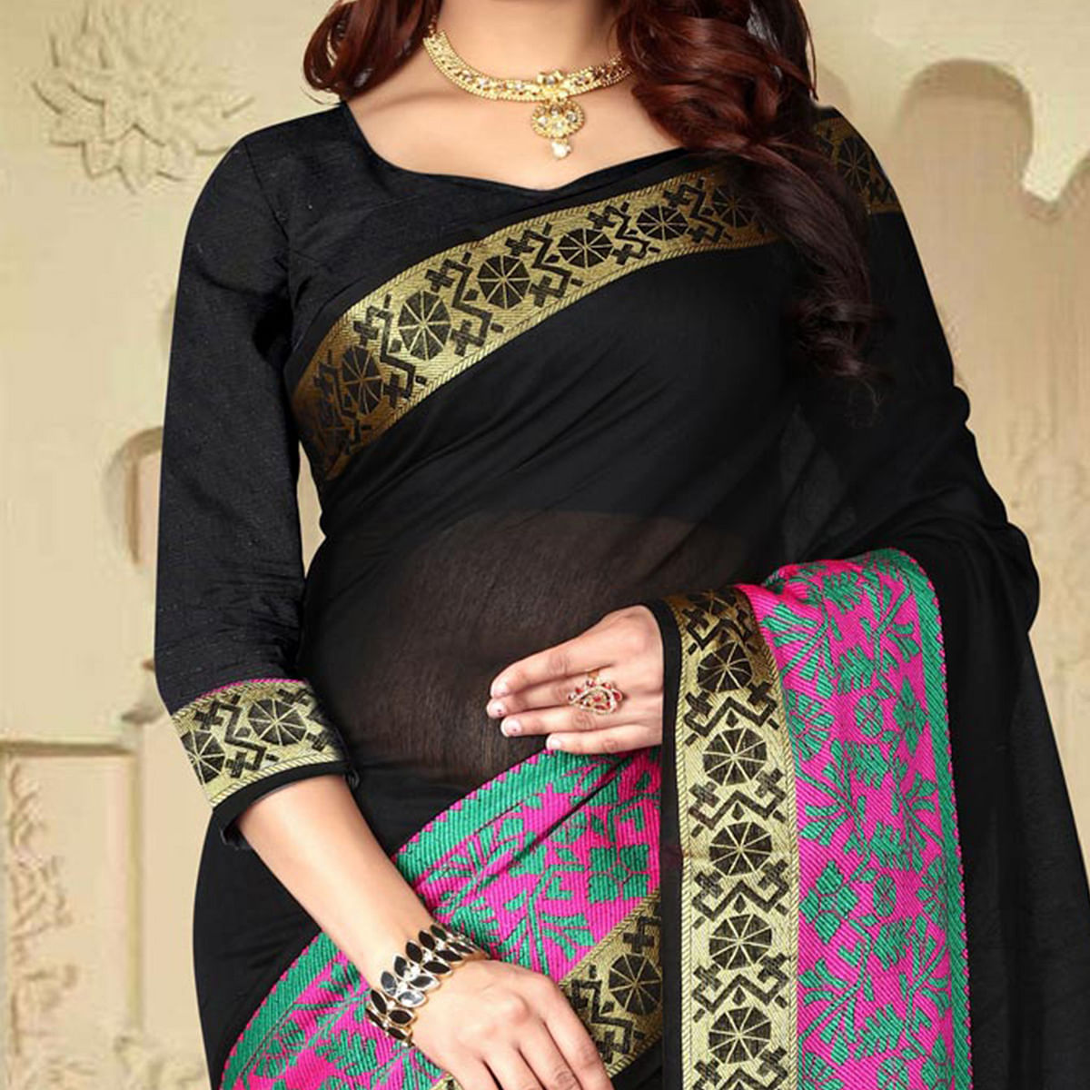 Arresting Black Colored Festive Wear Traditional Heavy Banarasi Silk Saree