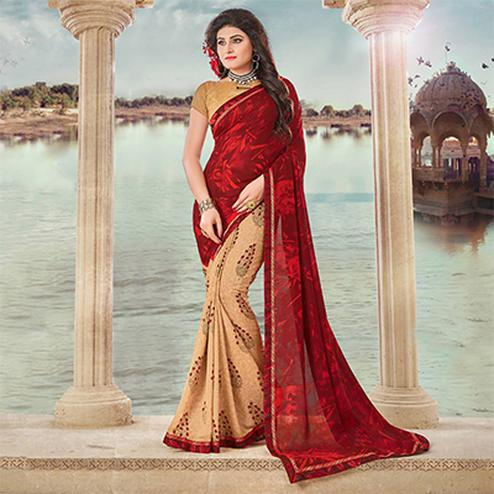 Maroon Art Silk Digital Printed Fancy Saree