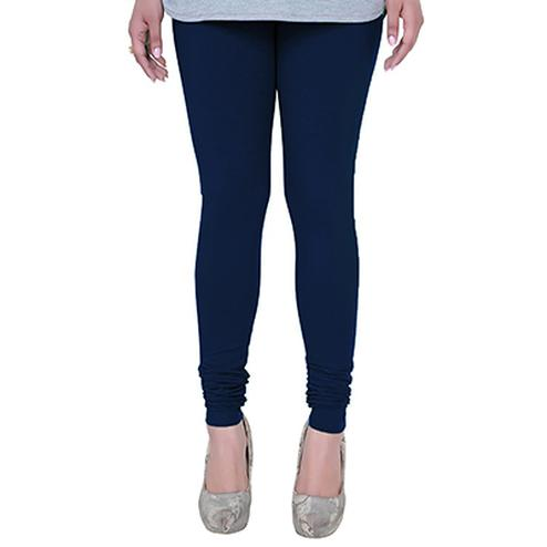 Stunning Navy Blue Colored Casual Wear Churidar Leggings