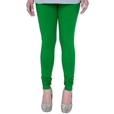 Perfect Green Colored Casual Wear Churidar Leggings