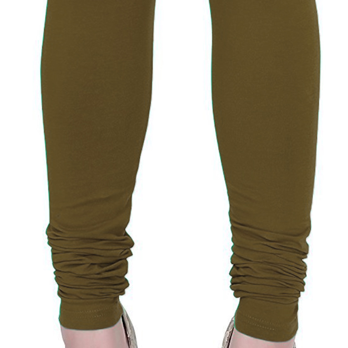Trendy Khaki Colored Casual Wear Churidar Leggings