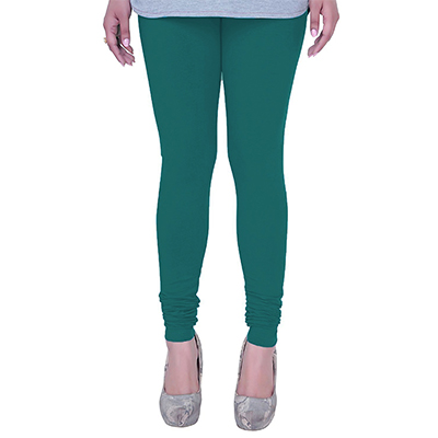 Catchy Rama Green Colored Casual Wear Churidar Leggings