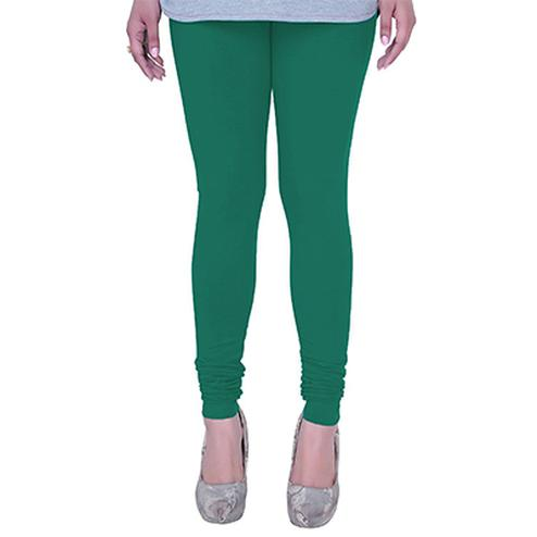 Opulent Aqua Green Colored Casual Wear Churidar Leggings