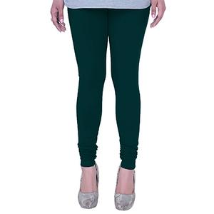 Irresistible Teal Green Colored Casual Wear Churidar Leggings