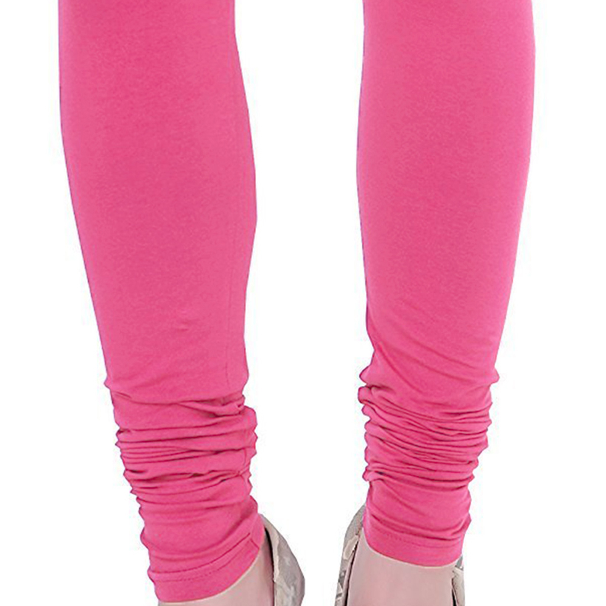 Charming Pink Colored Casual Wear Churidar Leggings
