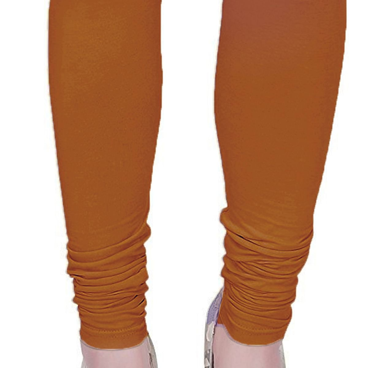 Exceptional Light Brown Colored Casual Wear Churidar Leggings
