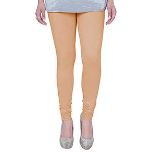 Pretty Cream Colored Casual Wear Churidar Leggings