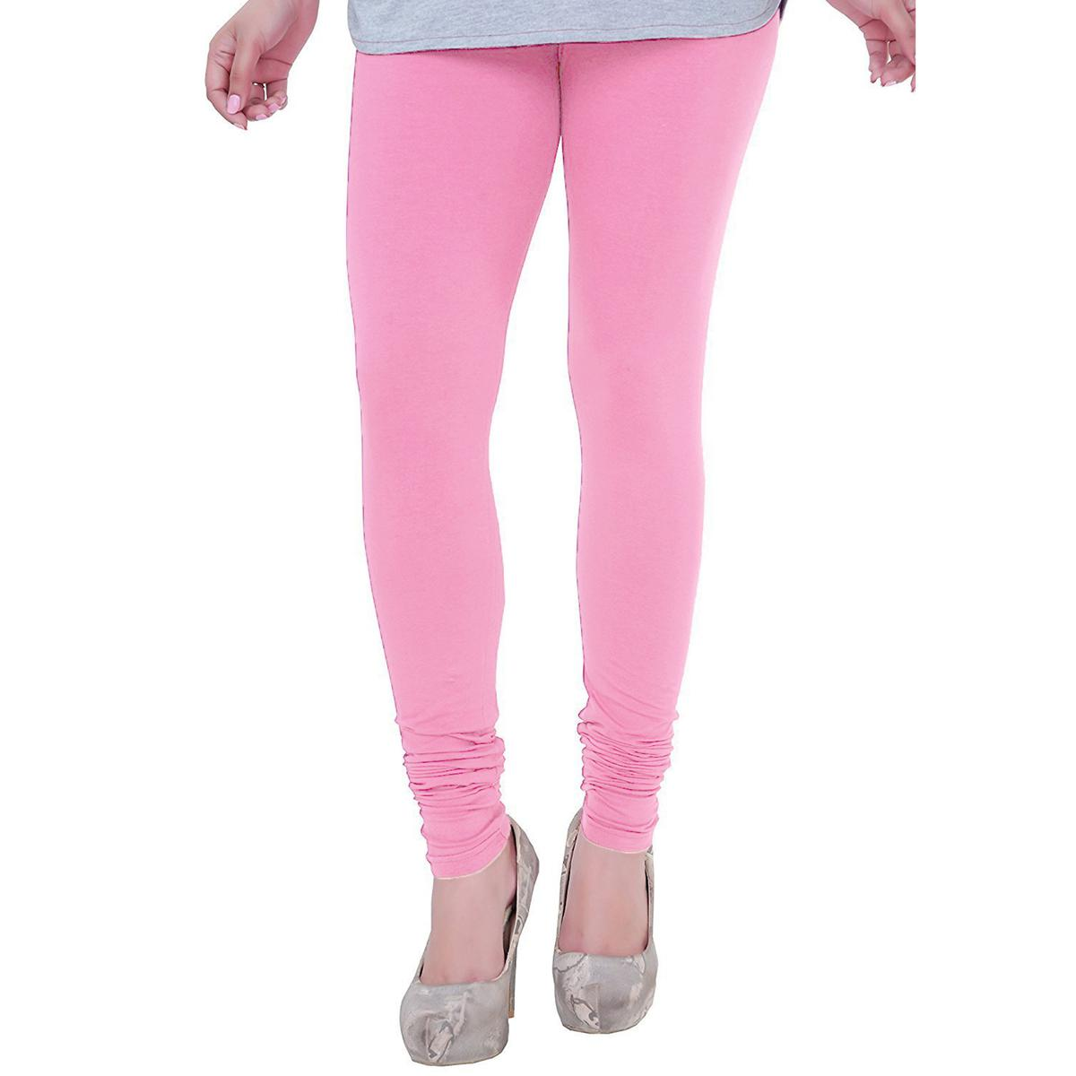 547c5a47605b2a Buy Girly Light Pink Colored Casual Wear Churidar Leggings for womens online  India, Best Prices, Reviews - Peachmode
