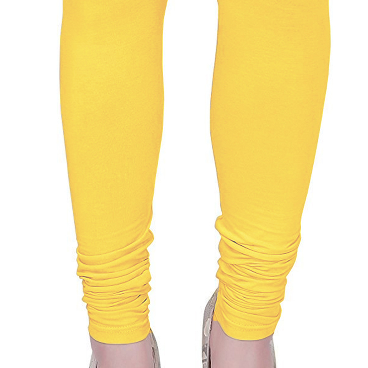 Ethnic Yellow Colored Casual Wear Churidar Leggings