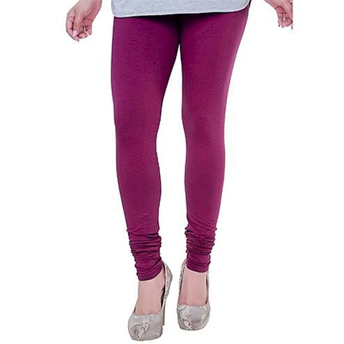 Flattering Magenta Colored Casual Wear Churidar Leggings