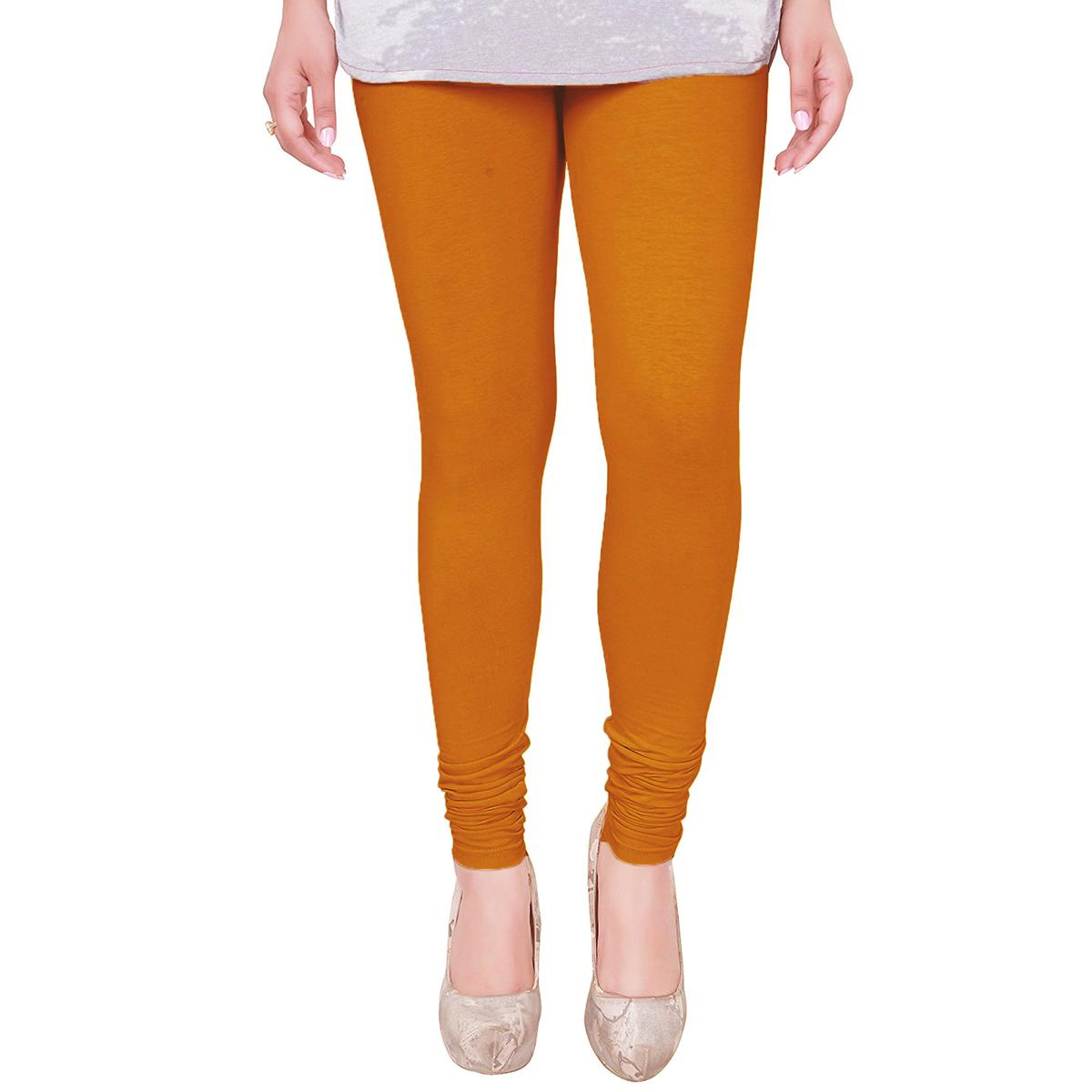 Fantastic Orangutan Orange Colored Casual Wear Churidar Leggings