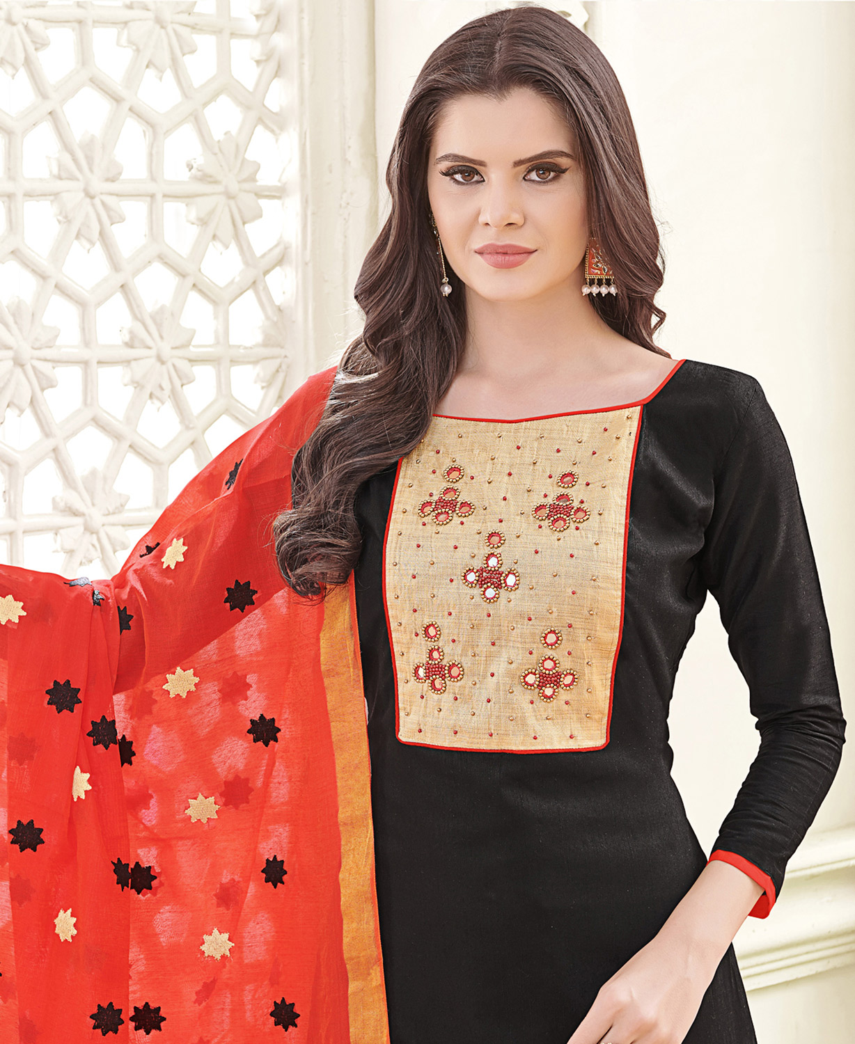 Precious Black Colored Party Wear Banglori Silk Salwar Suit