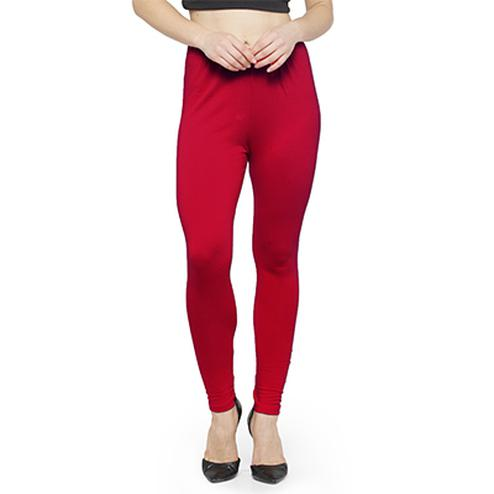 Gorgeous Fuchsia Pink Colored Casual Wear Ankle Length Leggings