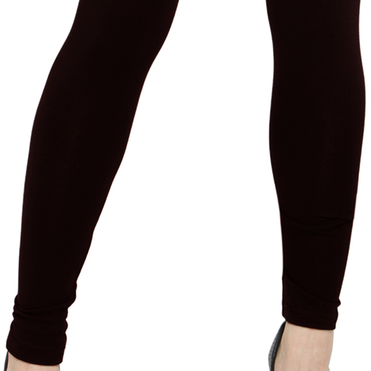 Demanding Dark Coffee Brown Colored Casual Wear Ankle Length Leggings