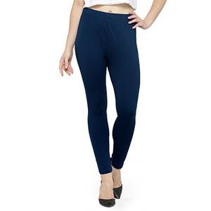 Classy Navy Blue Colored Casual Wear Ankle Length Leggings