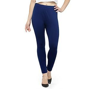 Stylish Blue Colored Casual Wear Ankle Length Leggings