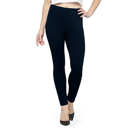 Lovely Blackish Blue Colored Casual Wear Ankle Length Leggings