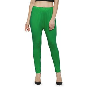 Trendy Green Colored Casual Wear Ankle Length Leggings