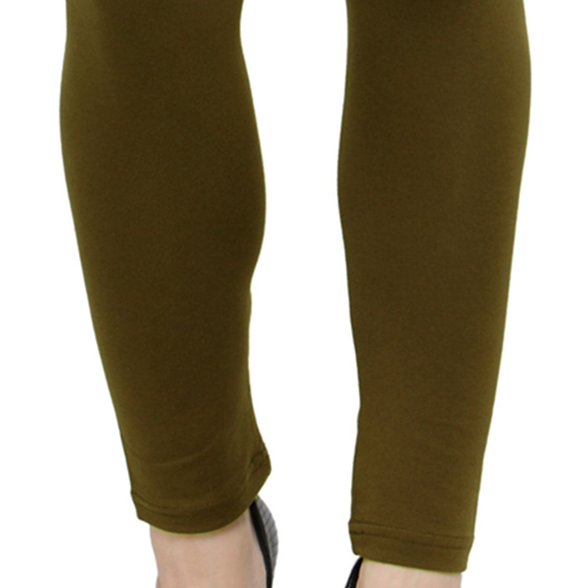 Exceptional Khaki Colored Casual Wear Ankle Length Leggings