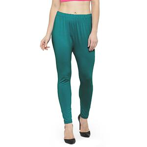 Opulent Rama Green Colored Casual Wear Ankle Length Leggings